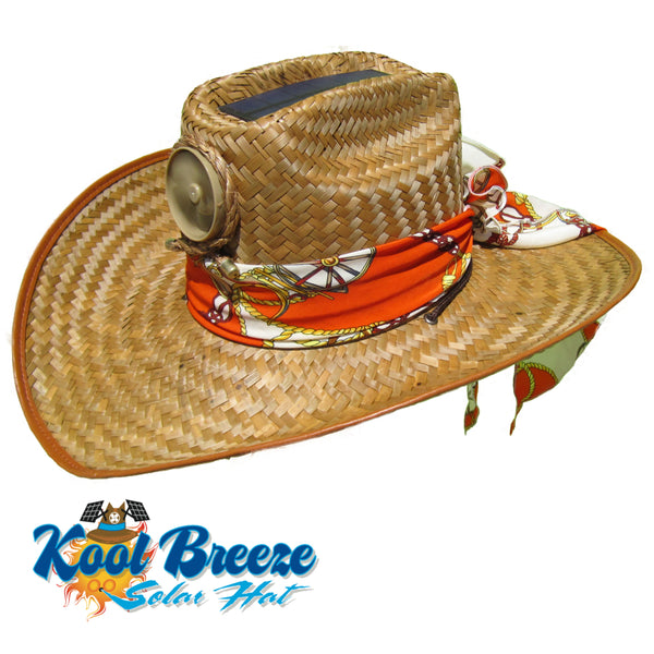 Mens Kool Breeze Solar Cowboy Hat