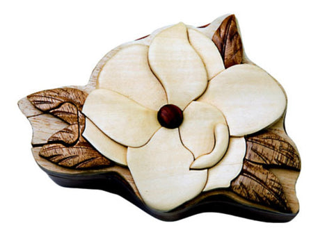 Hand-Carved-in-Vietnam-Wood-Magnolia-Puzzle-Box-Intarsia-Wood