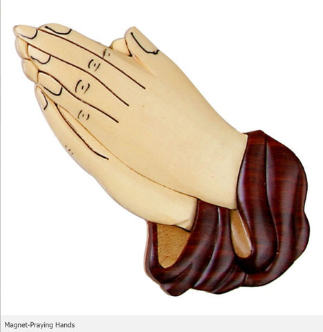Intarsia Wood Magnet-Praying Hands