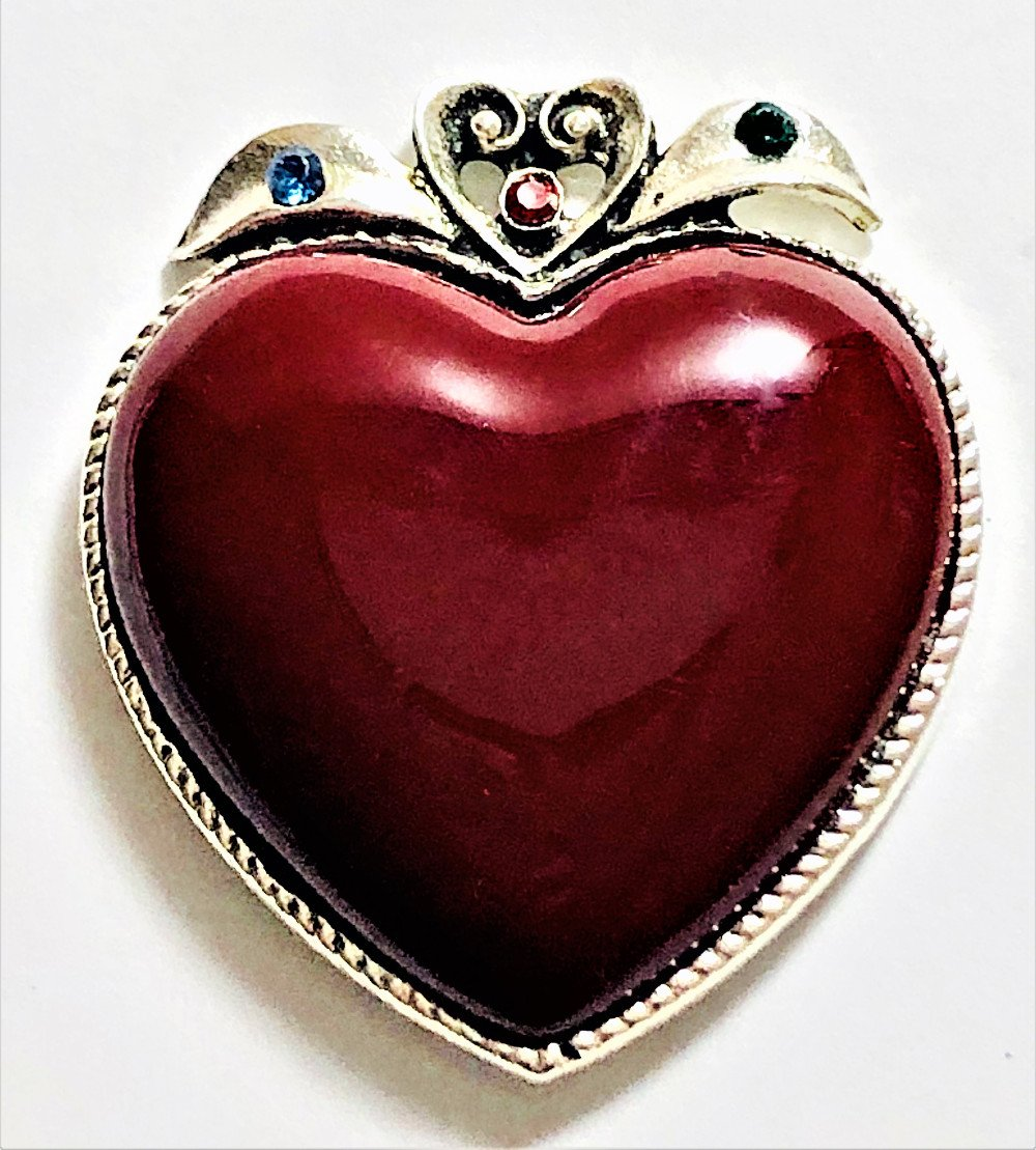 Attractables Custom Purse Jewelry-Magnet Key holder-Red Heart