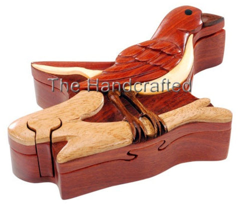 Hand-Carved-in-Vietnam-Wood-Robin-Puzzle-Box-Intarsia-Wood
