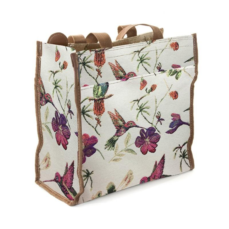 Signare Womens Fashion Tapestry Shopper Bag Humming Bird