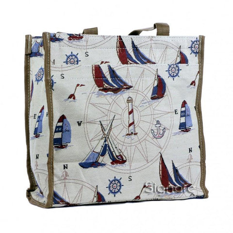 Signare Womens Fashion Tapestry Shopper Bag Shoulder Bag Yacht.