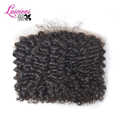 Indian Deep Curly Lace Frontal Closure 13x5 (Ear to Ear) Curly