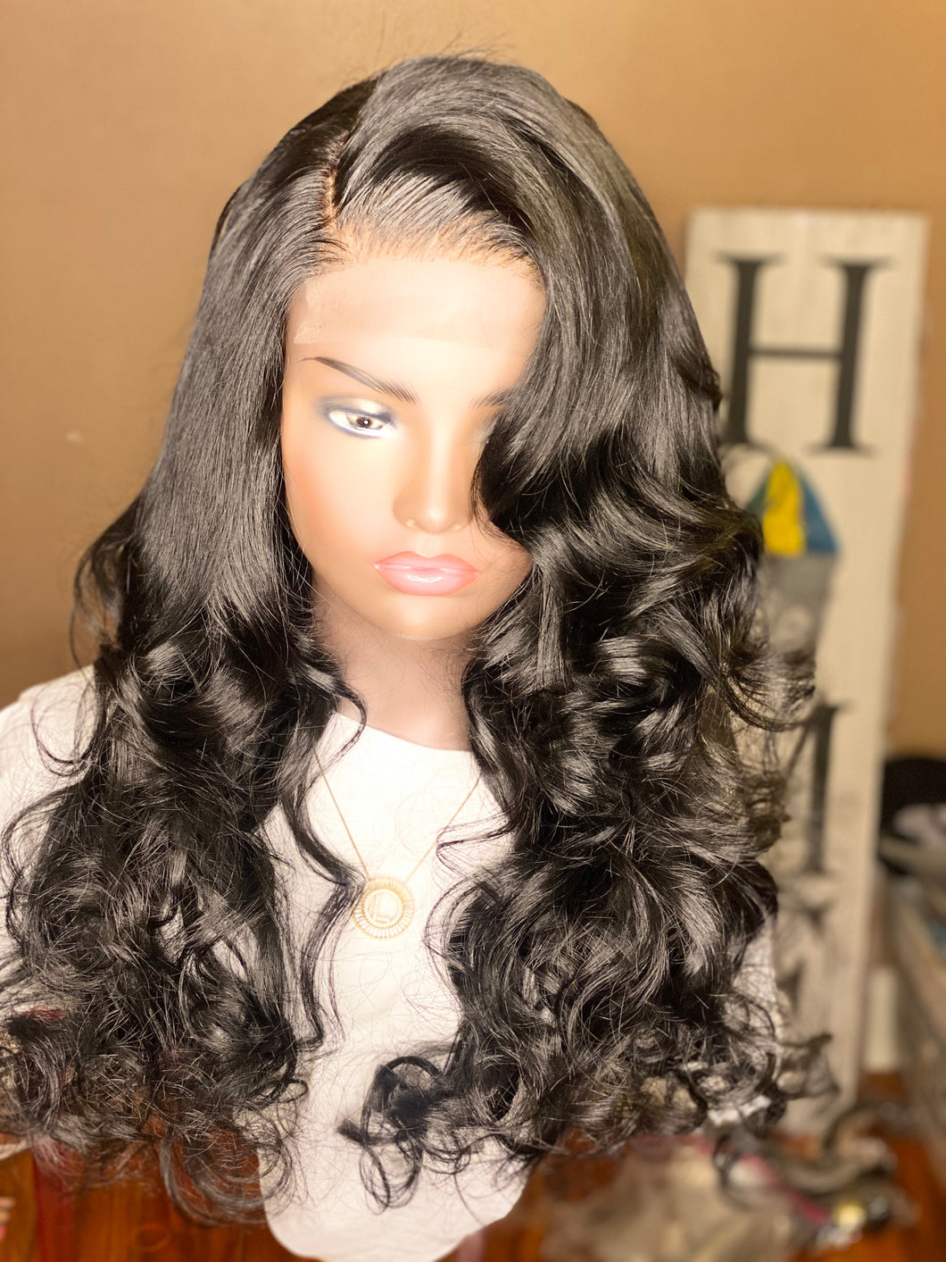 "Custom Wig Brazilian Body Wave (Elite Collection)18,20,22 with 16"" Closure ~Colored Soft Black~ *Ship 9/16-9/19*"