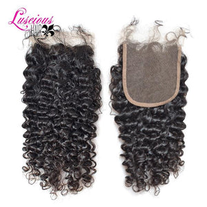 Indian Deep Curly 4 X 4 Lace Curly Closure