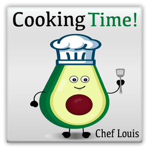 Louis The Chef Metal Magnet