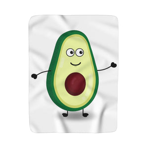 Louis The Avocado Fleece Blanket