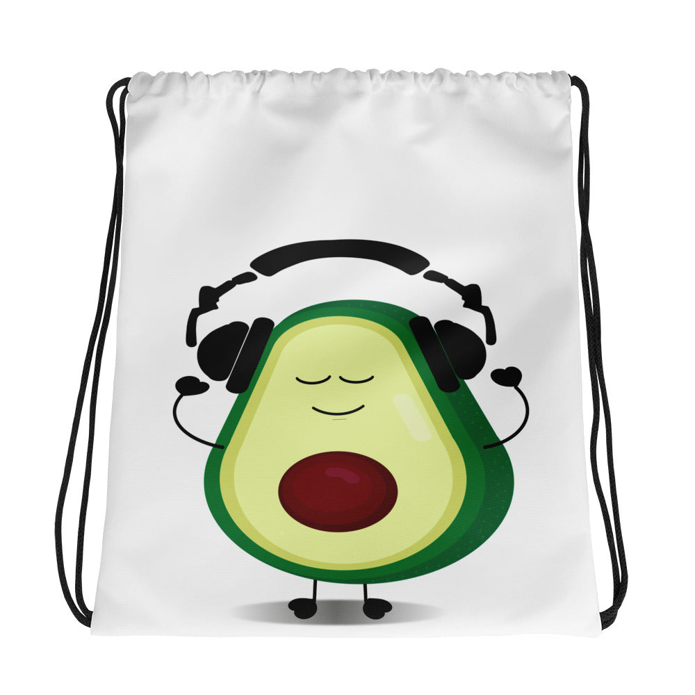 Louis With Headphones Drawstring bag