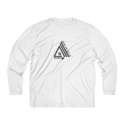 Image of AmpMuscle Men Breathable Moisture Absorbing Long Sleeve Shirt - AMGA FIT