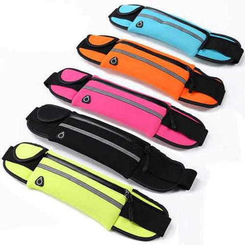 IPRee Sports Running Waist Bag Pack Unisex Phone Pouch Anti Theft Security Phone Case Storage - AMGA FIT
