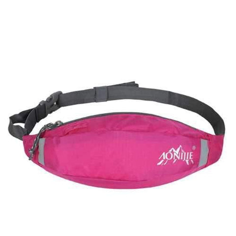 AONIJIE Sports Running Waist Bag Pack Waterproof Nylon Hiking Storage Pouch - AMGA FIT