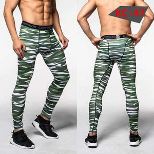 Men's Sports Pro Compression Camouflage Running Fitness Basketball Football Training Pants - AMGA FIT