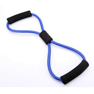 3X Yoga Resistance Bands Tube Fitness Muscle Workout Exercise Tubes 8 Type Blue - AMGA FIT
