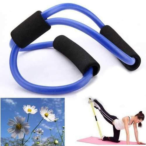 Image of 3X Yoga Resistance Bands Tube Fitness Muscle Workout Exercise Tubes 8 Type Blue - AMGA FIT