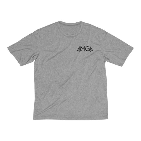 Image of AMGA Men Fitness Saves Lives Dri-Fit Performance Wicking T-Shirt - AMGA FIT