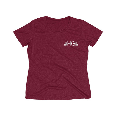 Image of AMGA Women Fitness Saves Lives Dri-Fit Performance Wicking T-Shirt - AMGA FIT
