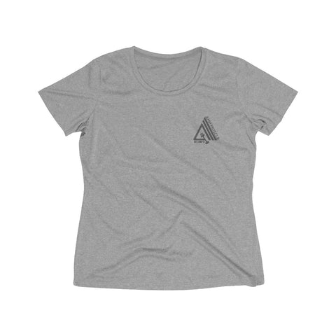 Image of AmpMuscle Women's Heather Wicking T-Shirt - AMGA FIT
