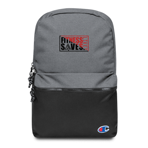 Fitness Saves Lives Water Resistant Backpack - AMGA FIT