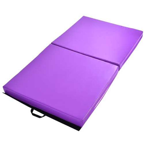 Image of 6' x 3.2' Portable Thick Gymnastics Mat with Two Folding Panel