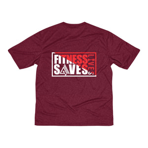 AMGA Men Fitness Saves Lives Dri-Fit Performance Wicking T-Shirt - AMGA FIT