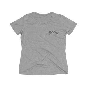 AMGA Women Just Keep Going Dri-Fit Performance Wicking T-Shirt - AMGA FIT