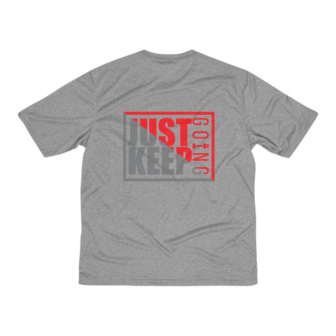 AMGA Men Just Keep Going Dri-Fit Performance Wicking T-Shirt - AMGA FIT