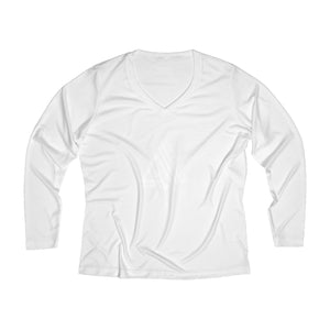 AmpMuscle Women Breathable Moisture Wicking Long Sleeve Performance V-neck Shirt - AMGA FIT