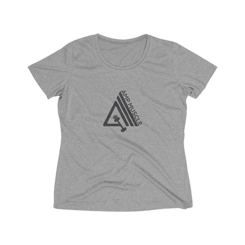 Image of AmpMuscle Women's Heather Wicking Tee - AMGA FIT