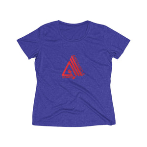 AmpMuscle Women's Heather Wicking Tee - AMGA FIT