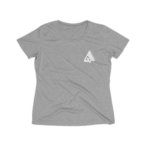AmpMuscle Women's Heather Wicking T-Shirt - AMGA FIT