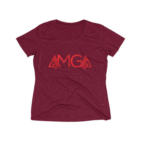 AMGA Women Dri-Fit Performance Wicking T-Shirt - AMGA FIT