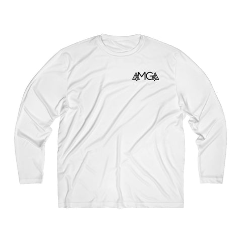 Image of AMGA Men Just Keep Going Breathable Moisture Absorbing Long Sleeve Shirt - AMGA FIT