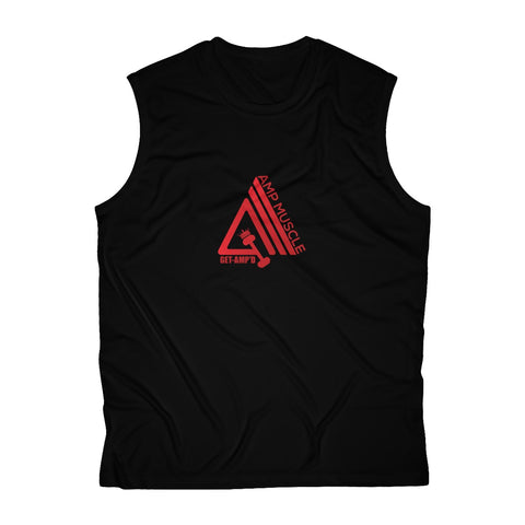Image of AmpMuscle Breathable Sweat-Wicking Sleeveless Performance Muscle T-Shirt - AMGA FIT