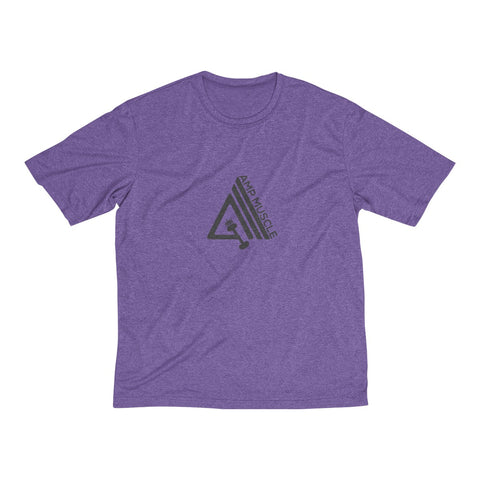 Image of AmpMuscle Men's Heather Dri-Fit Tee - AMGA FIT