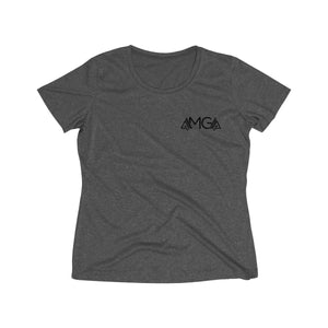 AMGA Women Fitness Saves Lives Dri-Fit Performance Wicking T-Shirt - AMGA FIT