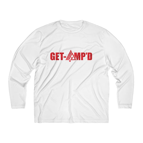 Image of Get Amp'd Men Breathable Moisture Absorbing Long Sleeve Shirt - AMGA FIT
