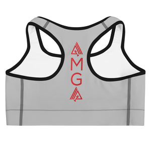 Just Keep Going Medium Intensity Double Layer Racerback Wide Band Sports Bra - AMGA FIT
