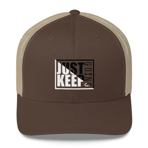 Just Keep Going Mid-Profile Mesh Adjustable Classic Trucker Hat - AMGA FIT