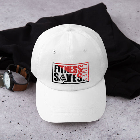 Image of Fitness Saves Lives Low Profile Adjustable Dad Hat - AMGA FIT