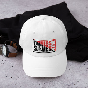 Fitness Saves Lives Low Profile Adjustable Dad Hat - AMGA FIT