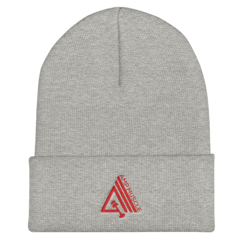 AmpMuscle Unisex Cuffed Beanie Hat - AMGA FIT