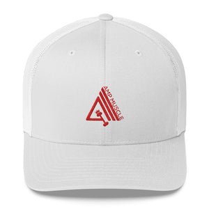 AmpMuscle Mid-Profile Mesh Adjustable Classic Trucker Hat - AMGA FIT
