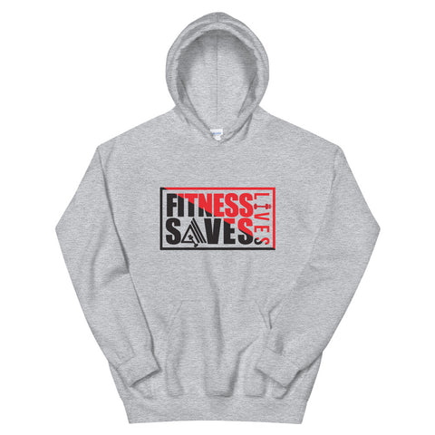 Image of Fitness Saves Lives Athletic Double Lined Unisex Hoodie - AMGA FIT