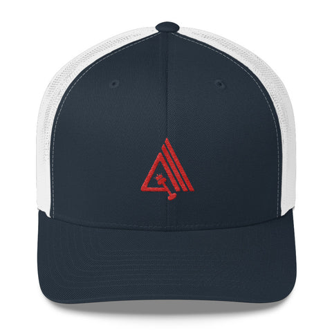 Image of Amp'd Mid-Profile Mesh Adjustable Classic Trucker Hat - AMGA FIT