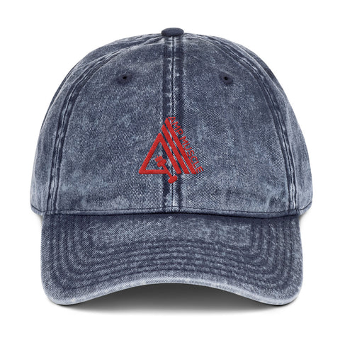 Image of AmpMuscle Vintage Low Profile Adjustable Dad Hat - AMGA FIT
