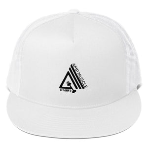 AmpMuscle Get Amp'd High Profile Snapback Trucker Cap - AMGA FIT