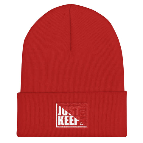 Just Keep Going Unisex Cuffed Beanie Hat - AMGA FIT