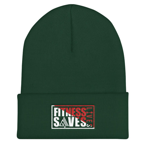 Fitness Saves Lives Unisex Cuffed Beanie Hat - AMGA FIT