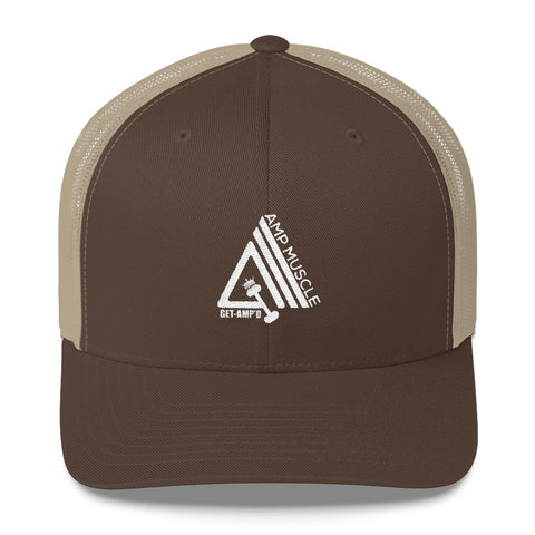 Image of AmpMuscle Get Amp'd Mid-Profile Mesh Adjustable Classic Trucker Hat - AMGA FIT
